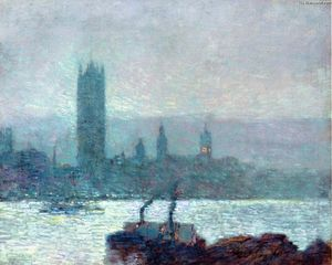 Frederick Childe Hassam - Houses of Parliament, Early Evening