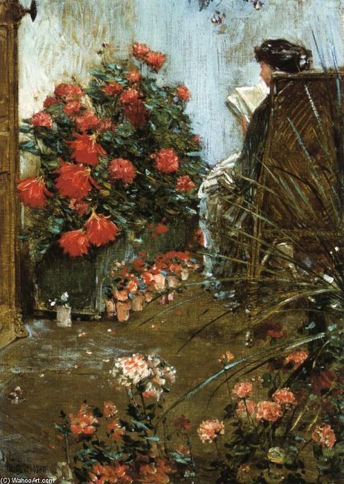 famous painting In the Garden at Villers-le-Bel of Frederick Childe Hassam