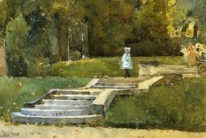 Frederick Childe Hassam - In the Park at St. Cloud