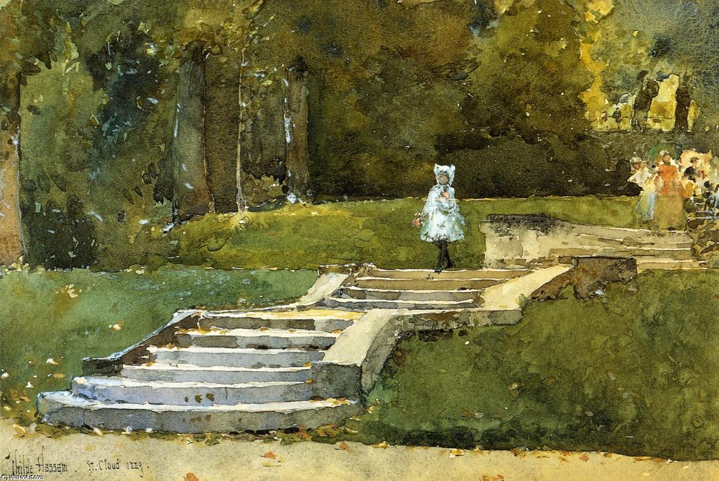 famous painting In the Park at St. Cloud of Frederick Childe Hassam