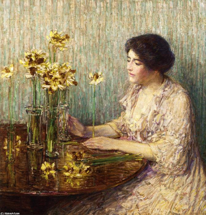 famous painting Jonquils of Frederick Childe Hassam