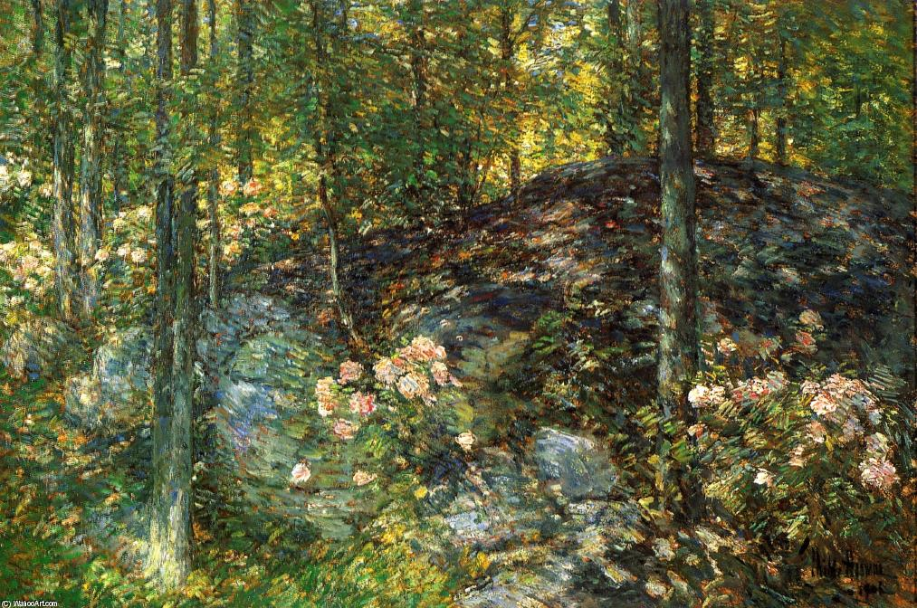 famous painting Laurel on the Ledges of Frederick Childe Hassam