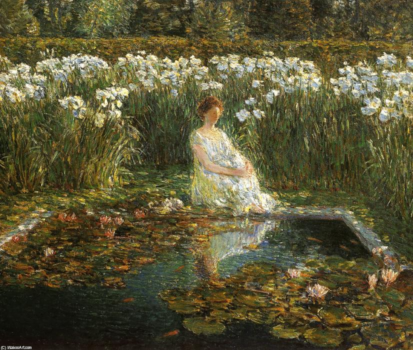 famous painting Lilies of Frederick Childe Hassam