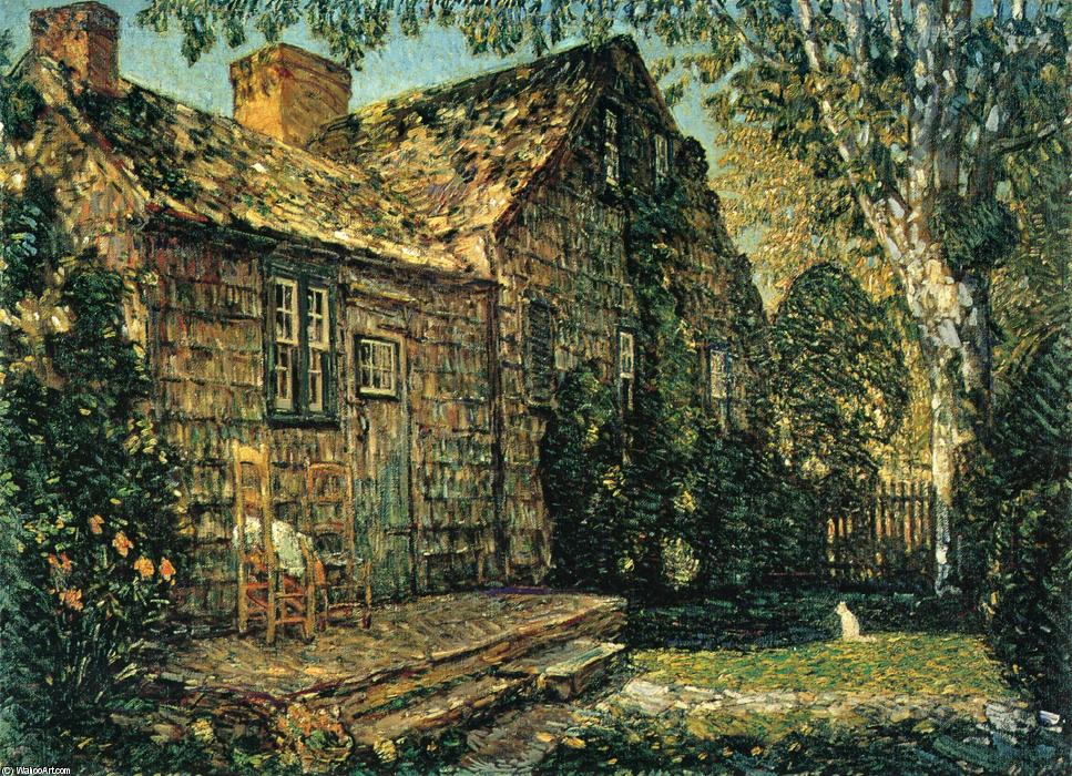 famous painting Little Old Cottage, Egypt Lane, East Hampton of Frederick Childe Hassam