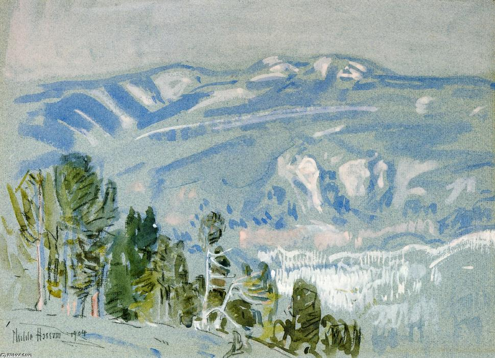 famous painting Looking towards Mount Adams from Mount Hood of Frederick Childe Hassam