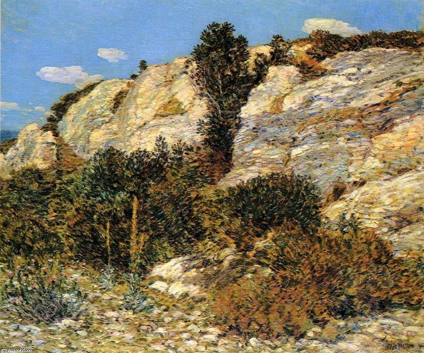 famous painting Lyman's Ledge, Appledore of Frederick Childe Hassam