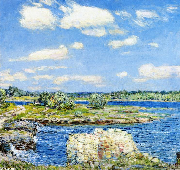 famous painting Mill Site and Old Todal Dam, Cos Cob of Frederick Childe Hassam