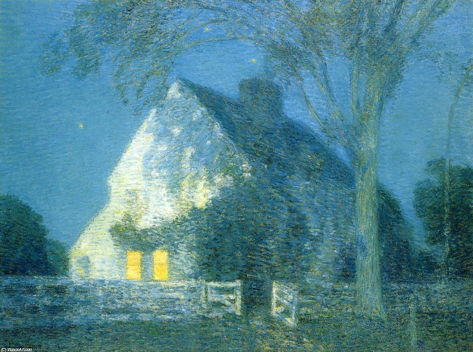 famous painting Moolight, the Old House of Frederick Childe Hassam