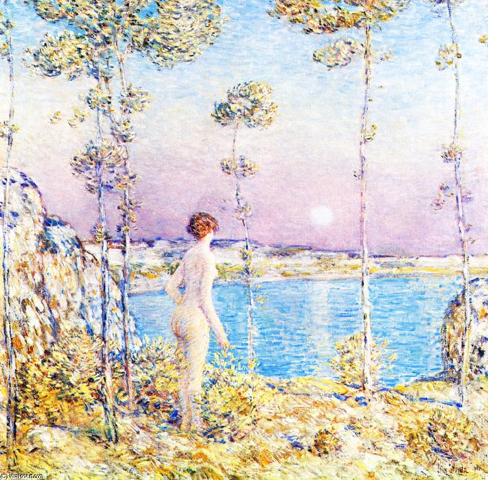 famous painting Moonrise at Sunset 1 of Frederick Childe Hassam