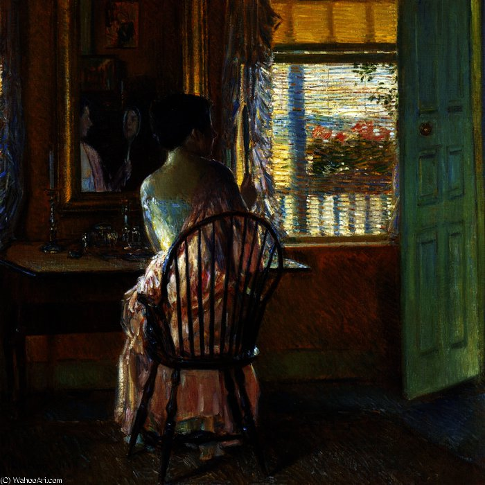 famous painting Morning Light of Frederick Childe Hassam