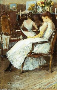 Frederick Childe Hassam - Mrs. Hassam and Her Sister