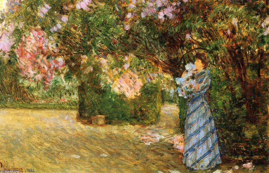 famous painting Mrs. Hassam at Villiers-le-Bel of Frederick Childe Hassam