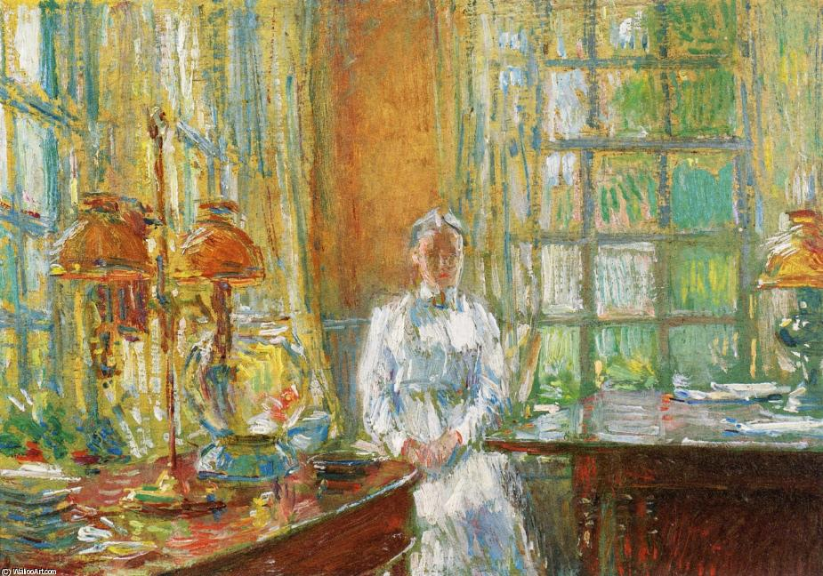 famous painting Mrs. Holley of Cos Cob, Connecticut of Frederick Childe Hassam