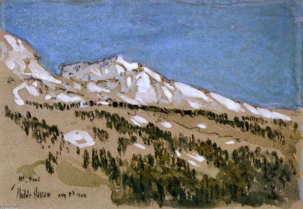 famous painting Mt. Hood (Oregon) of Frederick Childe Hassam