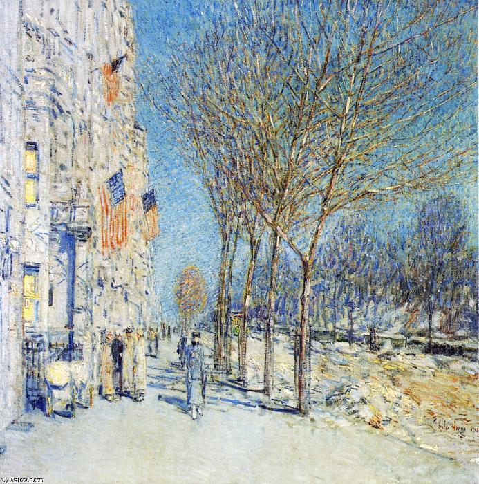 famous painting New York Landscape of Frederick Childe Hassam