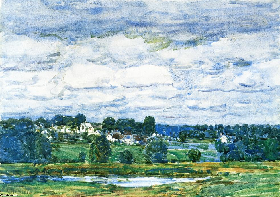 famous painting Newfields, New Hampshire 1 of Frederick Childe Hassam