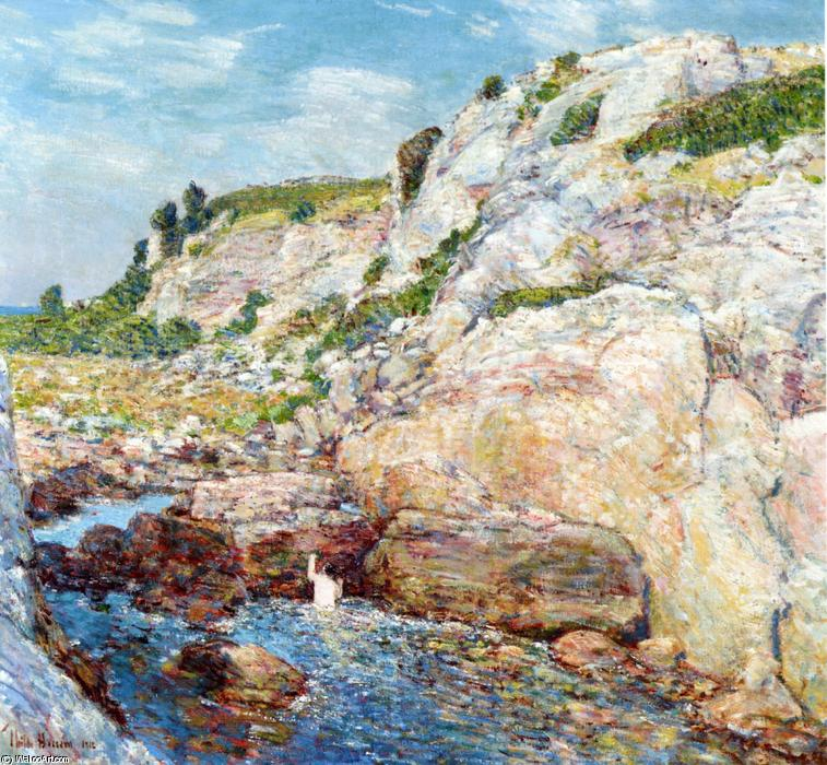 famous painting Northeast Gorge at Appledore of Frederick Childe Hassam