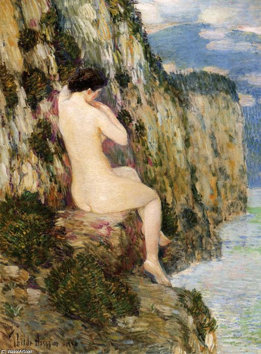 famous painting Nude on the Cliffs of Frederick Childe Hassam