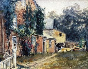 Frederick Childe Hassam - Old House, Nantucket