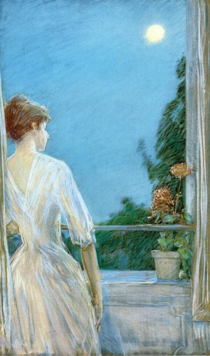 famous painting On the Balcony of Frederick Childe Hassam