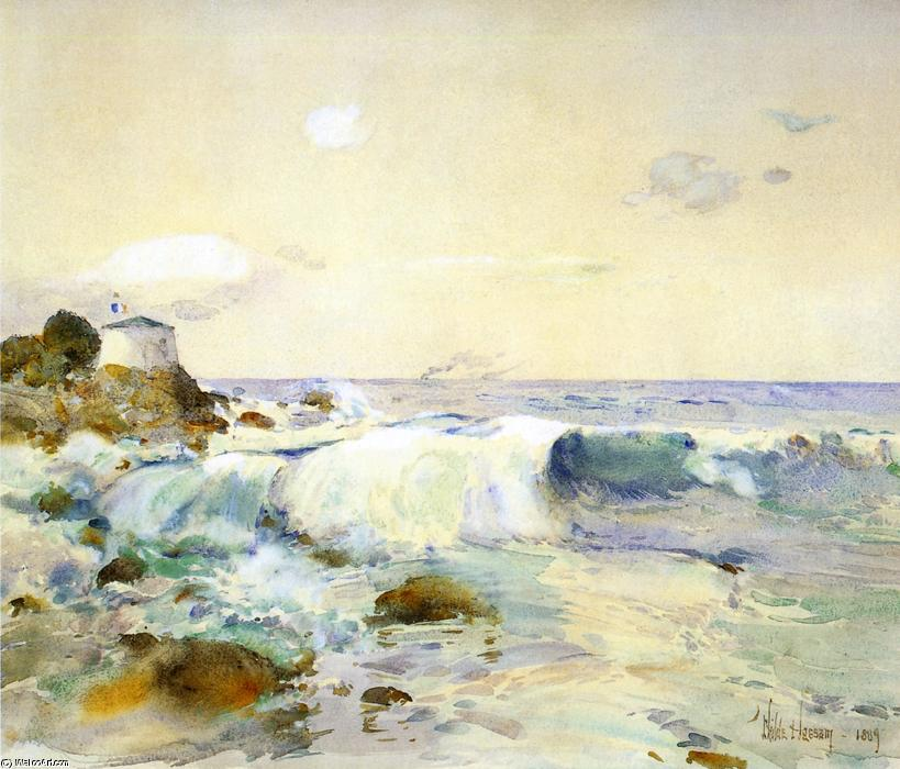 famous painting On the Brittany Coast of Frederick Childe Hassam