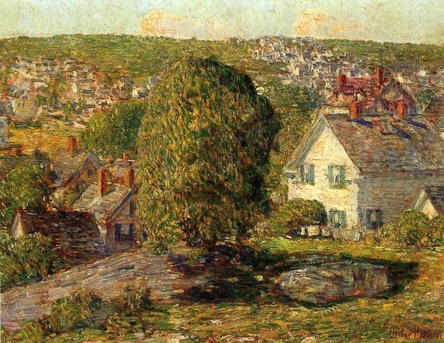 famous painting Outskirts of East Gloucester of Frederick Childe Hassam