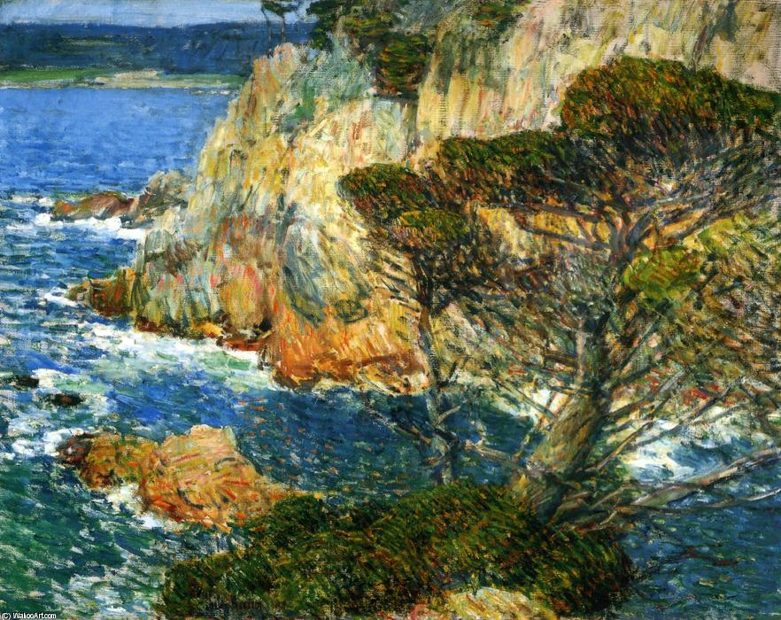 famous painting Point Lobos, Carmel of Frederick Childe Hassam