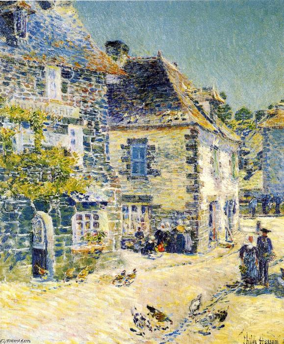 famous painting Pont-Aven, Noon Day of Frederick Childe Hassam