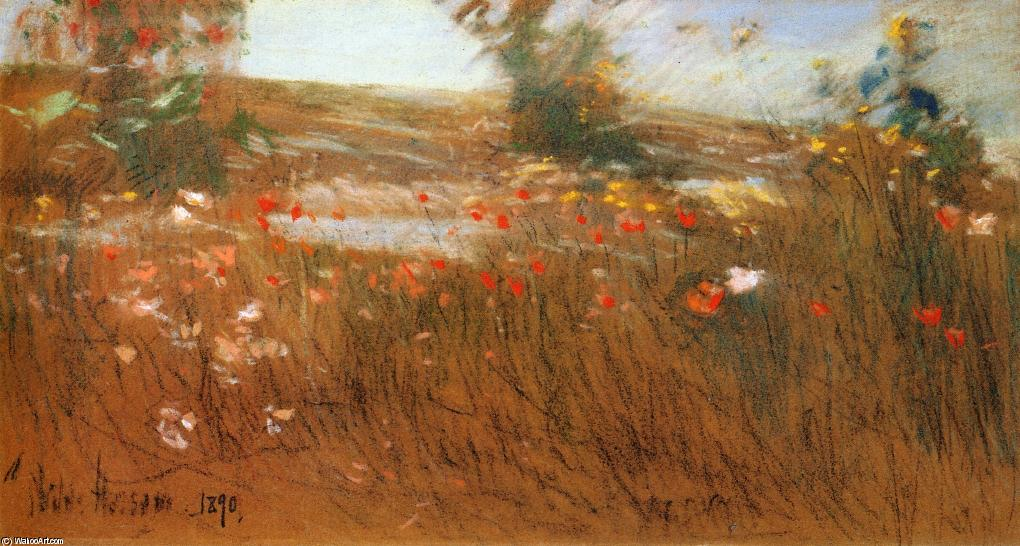 famous painting Poppies, Isles of Shoals 1 of Frederick Childe Hassam