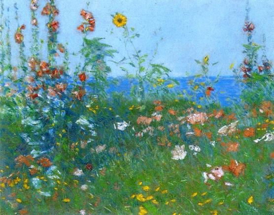 famous painting Poppies, Isles of Shoals 2 of Frederick Childe Hassam