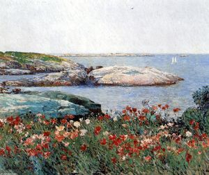 Frederick Childe Hassam - Poppies, Isles of Shoals 3