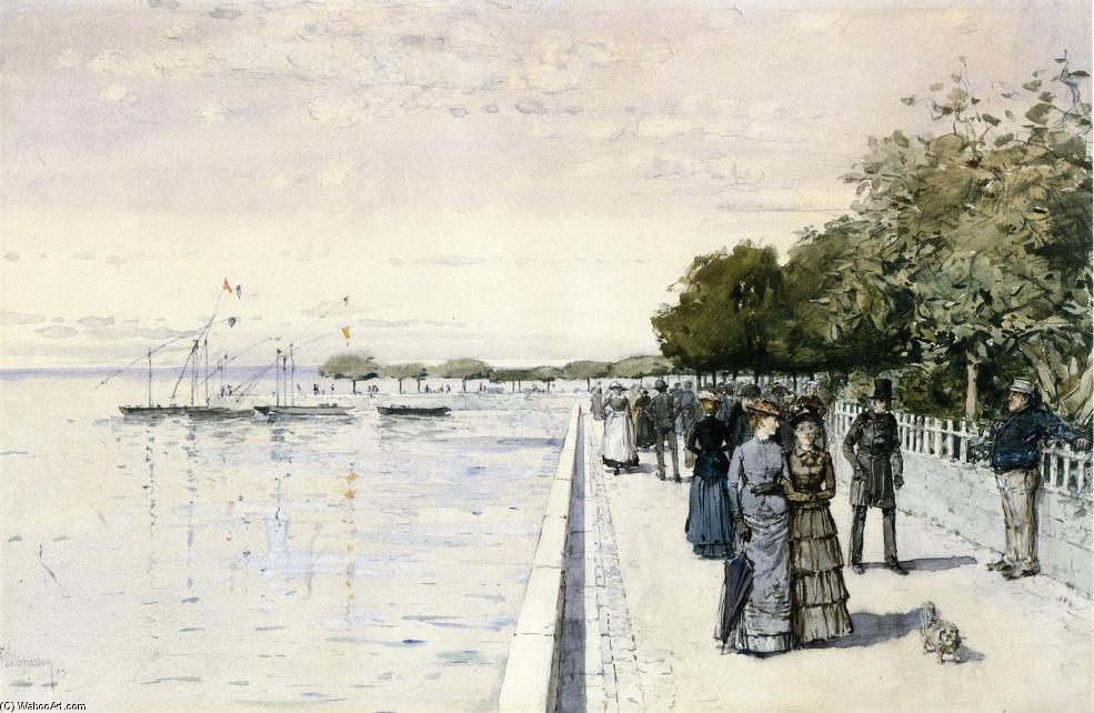 famous painting Promenade of Frederick Childe Hassam