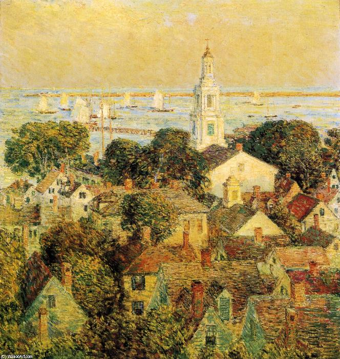famous painting Provincetown of Frederick Childe Hassam