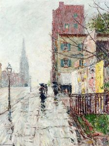 Frederick Childe Hassam - Rainy Day