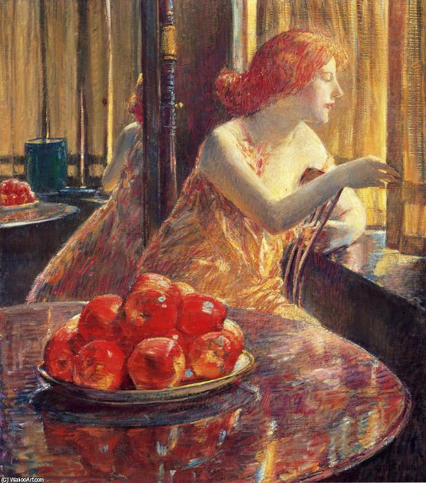 famous painting Reflections (Kitty Hughes) of Frederick Childe Hassam