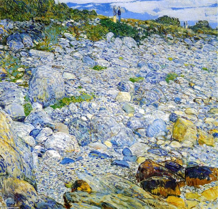 famous painting Rocky Beach, Appledore of Frederick Childe Hassam
