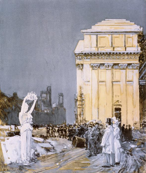 famous painting Scene at the World's Columbian Exposition, Chicago, Illinois of Frederick Childe Hassam