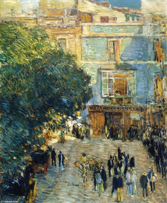 famous painting Square at Sevilla of Frederick Childe Hassam