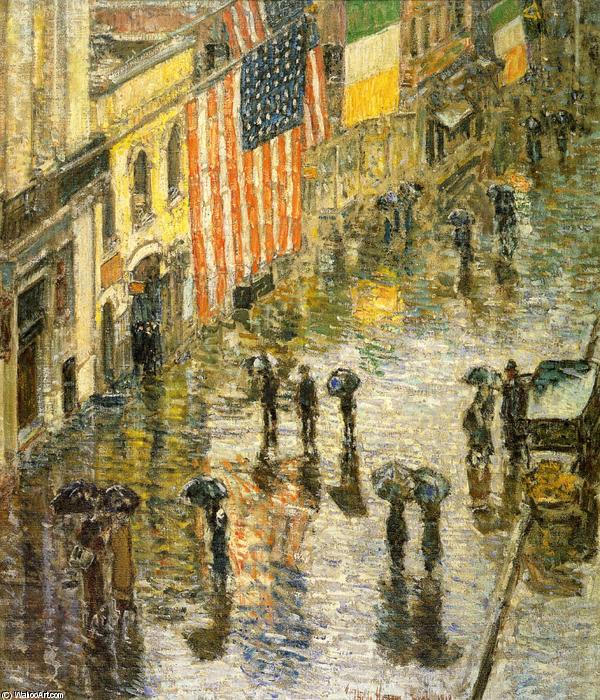 famous painting St. Patrick's Day, 1919 of Frederick Childe Hassam