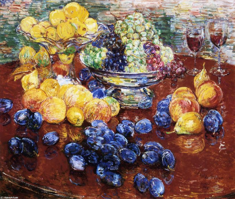 famous painting Still Life, Fruits 1 of Frederick Childe Hassam