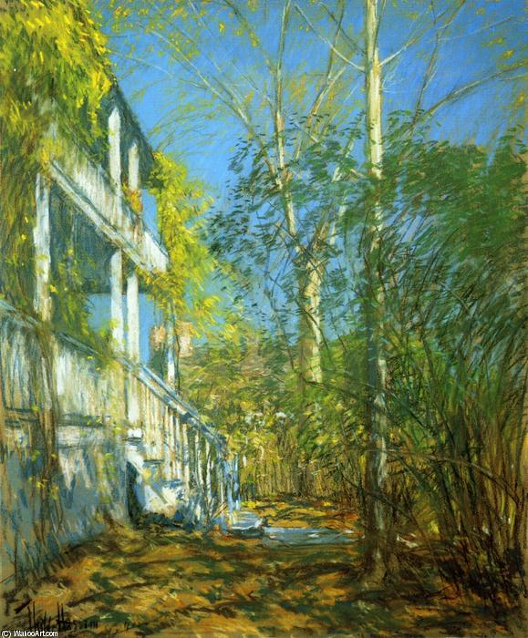 famous painting Summer at Cos Cob of Frederick Childe Hassam