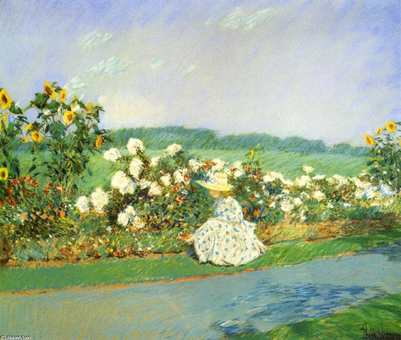 famous painting Summertime of Frederick Childe Hassam