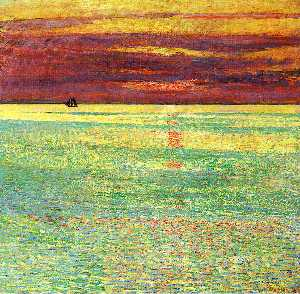 Frederick Childe Hassam - Sunset at Sea