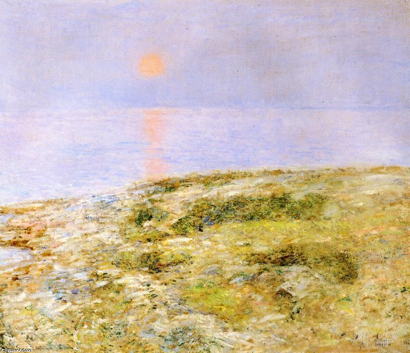 famous painting Sunset, Isle of Shoals of Frederick Childe Hassam