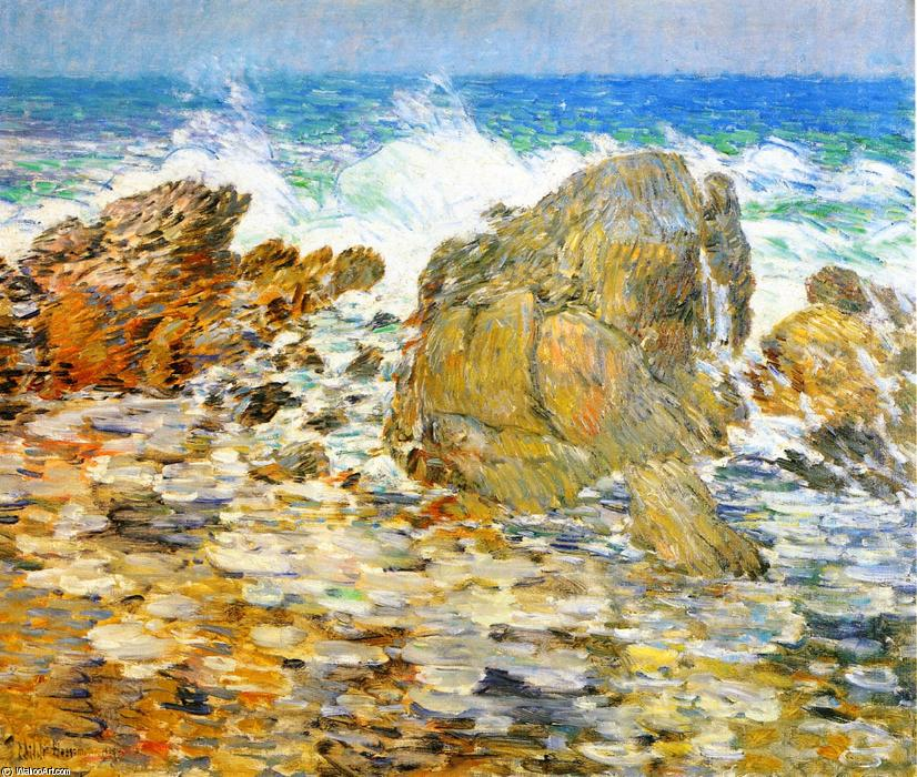 famous painting Surf, Appledore of Frederick Childe Hassam