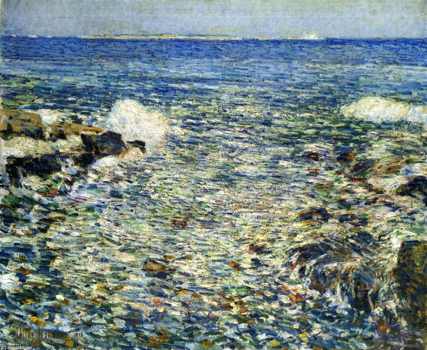 famous painting Surf, Isles of Shoals of Frederick Childe Hassam