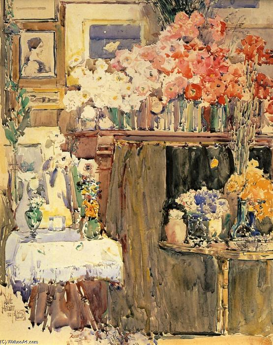 Order Art Reproductions Impressionism : The Altar and the Shrine by Frederick Childe Hassam | TopImpressionists.com