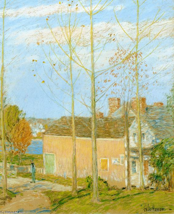 famous painting The Barn, Cos Cob of Frederick Childe Hassam