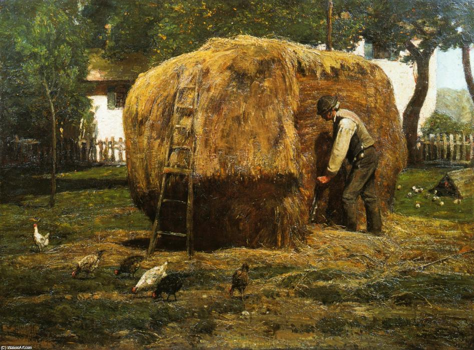 famous painting The Barnyard of Frederick Childe Hassam