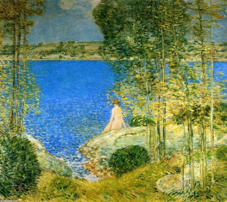 famous painting The Bather of Frederick Childe Hassam